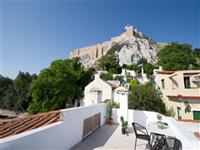 The Acropolis viewed from the private roof terrace