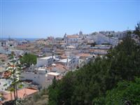 Aerial shot of Old Town Albufeira